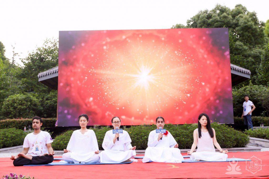 China (Shanghai):5th UN International yoga day